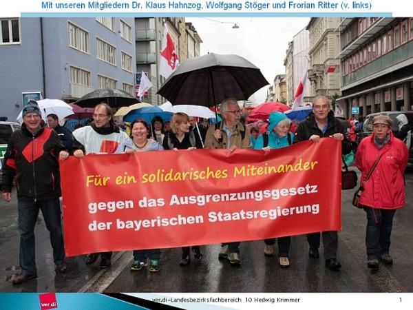 Breites Bündnis demonstriert gegen das bayerische Integrationsgesetz