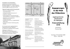 Beitragsbild Dortmund: Preisverleihung Ingeborg-Drewitz-Literaturpreis für Gefangene