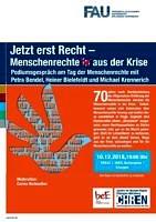 70 Jahre Menschenrechte – Herausforderung Hassverbrechen