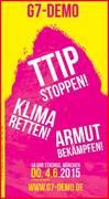 DEMO – TTIP STOPPEN! KLIMA RETTEN! ARMUT BEKÄMPFEN!
