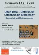Open Data – Unterstützt Offenheit die Stärkeren? (Freiburg)