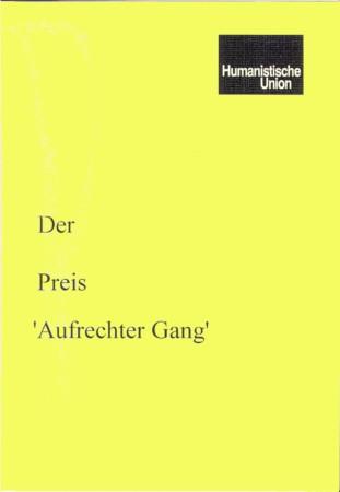 Beitragsbild Der Preis 'Aufrechter Gang'