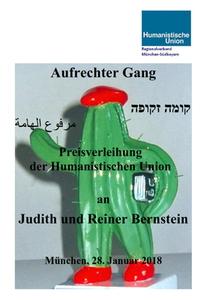 """Dokumentation der Verleihung des Preises """"Aufrechter Gang"""" an Judith & Reiner Bernstein"""