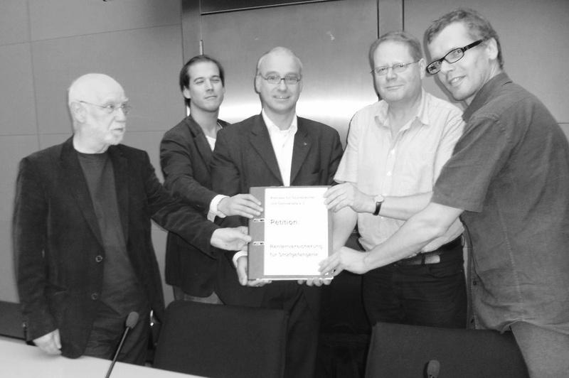 Beitragsbild Petition zur Rentenversicherung für Strafgefangene gestartet