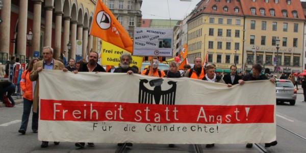 Demonstration gegen Überwachung am 10. Oktober 2015