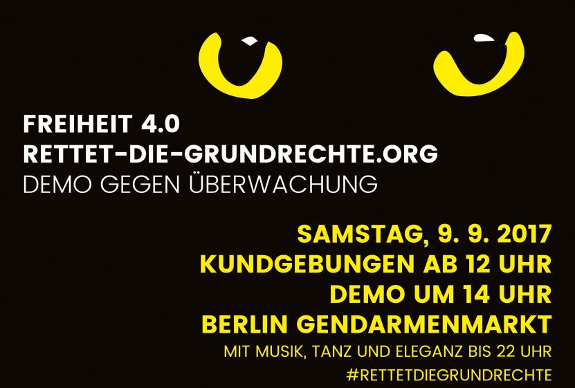Beitragsbild Datenschutz-Demonstration am 9.9.2017 in Berlin