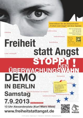 Beitragsbild Freiheit statt Angst 2013 - Datenschutz-Demonstration