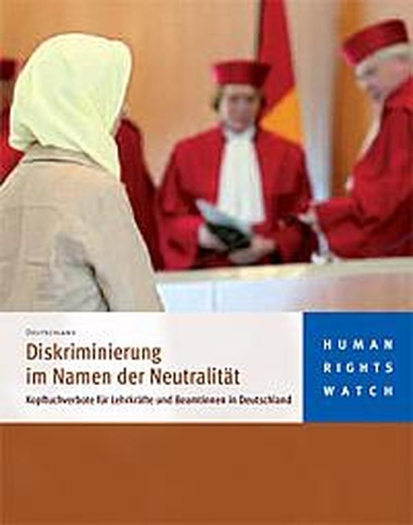Beitragsbild Diskriminierung im Namen der Neutralität. Human Rights Watch kritisiert Kopftuchgesetze