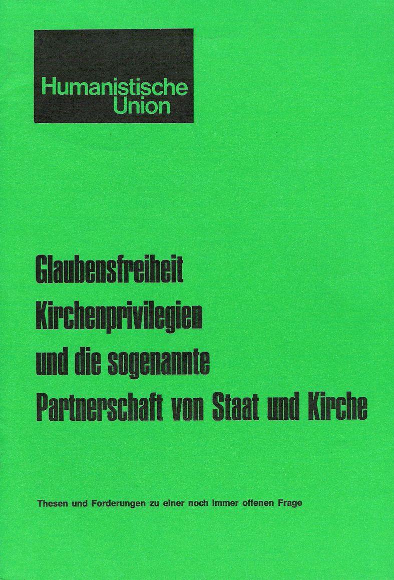 Beitragsbild Glaubensfreiheit, Kirchenprivilegien und die sogenannte Partnerschaft von Staat und Kirche