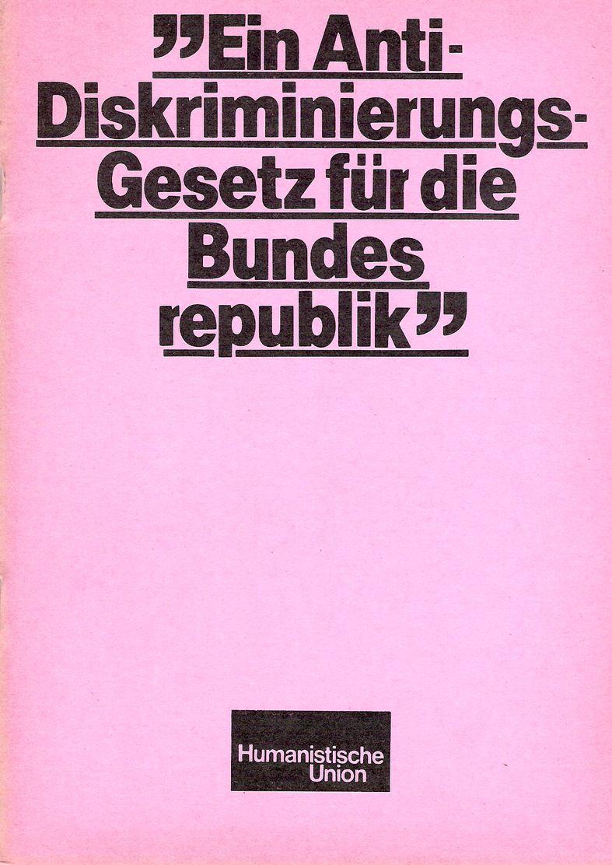 Beitragsbild Ein Anti-Diskriminierungs-Gesetz für die Bundesrepublik