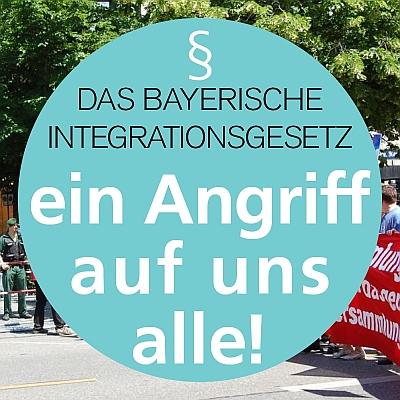 """Demonstration am 22.10.16 gegen das Bayerische """"Integrationsgesetz"""""""