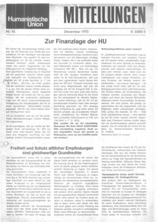 Beitragsbild Mitteilungen Nr. 46 (Heft 6/1970)