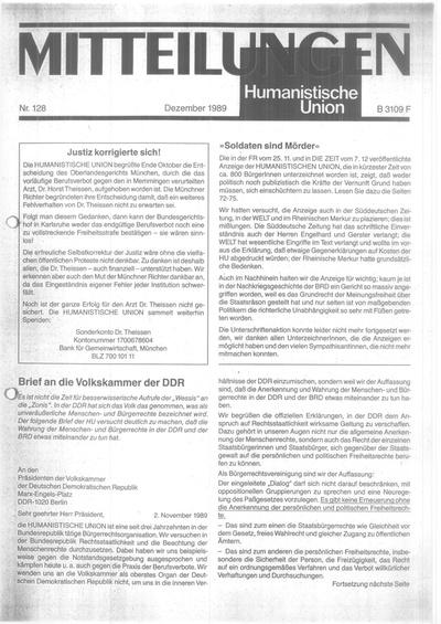 Beitragsbild Mitteilungen Nr. 128 (Heft 4/1989)