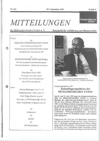 Beitragsbild Mitteilungen Nr. 151 (Heft 3/1995)