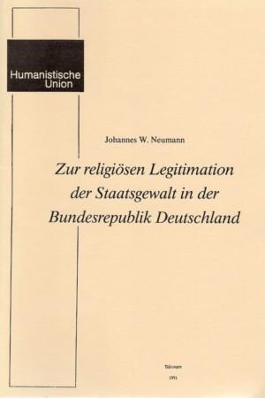 Beitragsbild Zur religiösen Legitimation der Staatsgewalt in der Bundesrepublik Deutschland