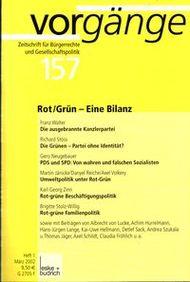 Beitragsbild vorgänge Nr. 157 (Heft 1/2002) Rot/Grün - Eine Bilanz