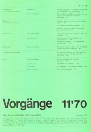 Beitragsbild vorgänge Heft 11/1970