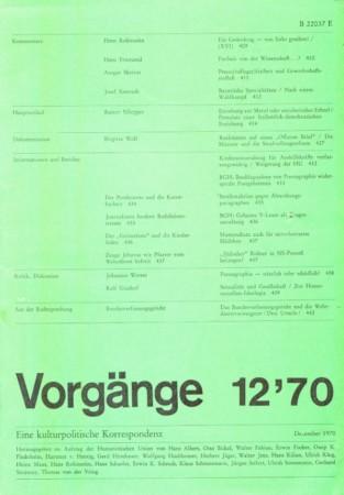 Beitragsbild vorgänge Heft 12/1970