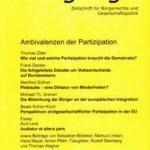 vorgänge 199: Ambivalenzen der Partizipation