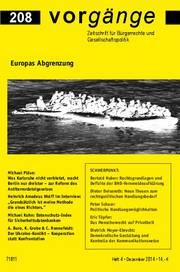 vorgänge Nr. 208: Europas Abschottung