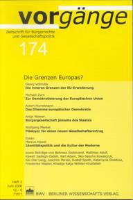 vorgänge Nr. 174: Die Grenzen Europas?