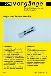 vorgänge Nr. 229: Perspektiven der Suizidbeihilfe