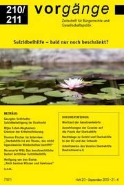 vorgänge Nr. 210/211: Suizidbeihilfe - bald nur noch beschränkt?