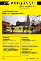 vorgänge Nr. 233: 5. Berliner Gespräche - Kirchliches Sonderarbeitsrecht